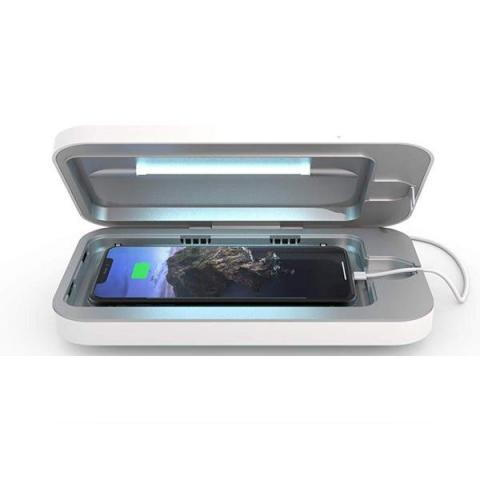 You can also consider looking into a UV light to kill bacteria on your phone.