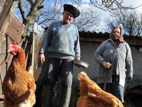 Foto de Ivan Semenyuk, residente de la zona de exclusión, hecha en 2011.