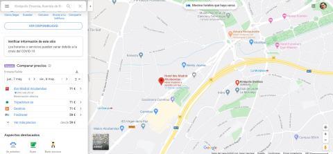 Compara precios en Google Maps
