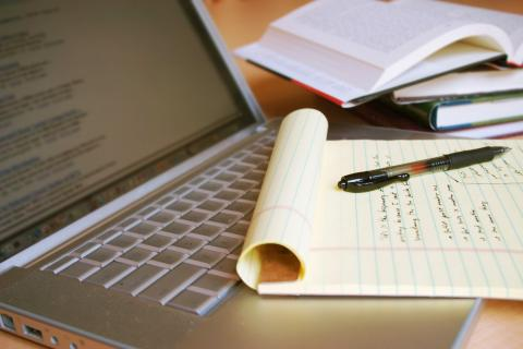 Cuaderno con márgenes