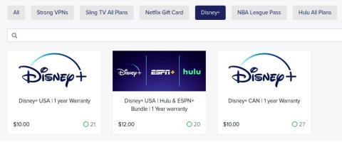 Cuentas Disney+ robadas, a la venta.