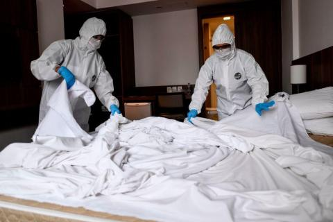 Decontaminating a surface with the coronavirus is a 2-step process. A biohazard cleaner says people are skipping the first step.