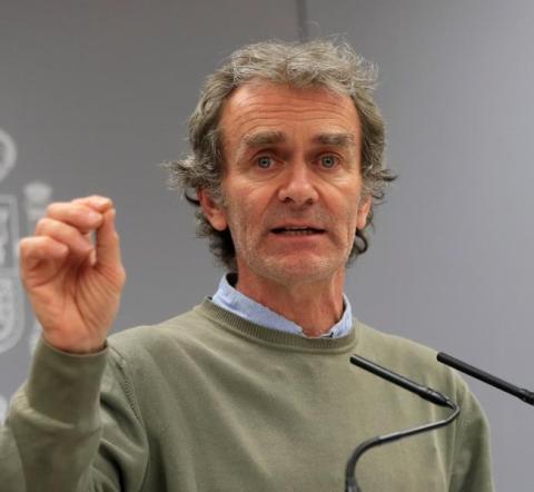 El portavoz del Ministerio de Sanidad en el gabinete técnico para la crisis del coronavirus en España, Fernando Simón.