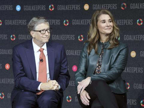 Bill and Melinda Gates head up the Gates Foundation.