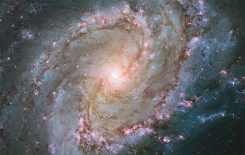 Galaxia Messier 83 o Molinillo Austral capturada por el telescopio Hubble.
