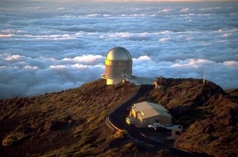 Observatorio del Roque de los Muchachos dirigido por el Instituto de Astrofíica de Canarios.