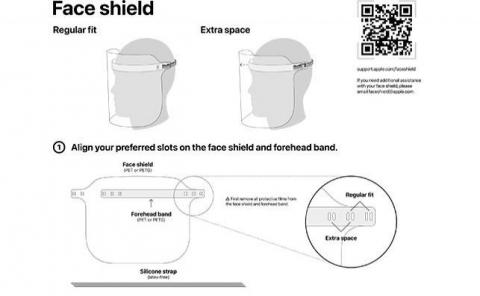 Instrucciones de montaje de la pantalla protectora de Apple.