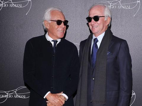 Giorgio Armani (left) and Leonardo Del Vecchio.