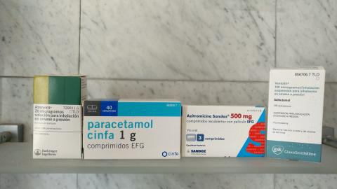 Medicamentos que Ignacio se tuvo que tomar durante el COVID-19