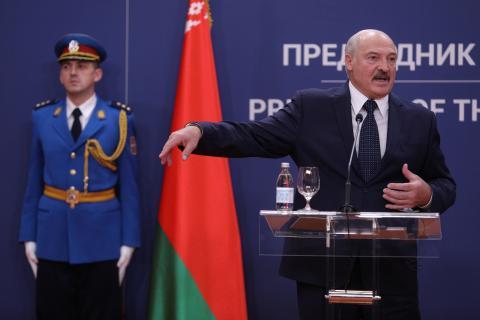 El presidente bielorruso, Aleksandr Lukashenko