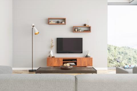 Televisión en un salón