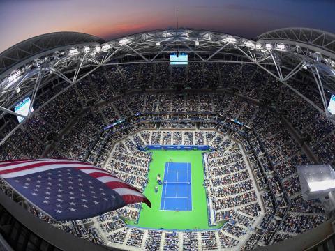 La pista central del US Open de tenis.