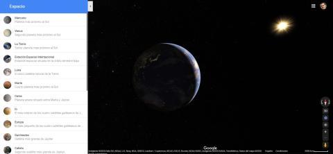 Vista del espacio en Google Maps