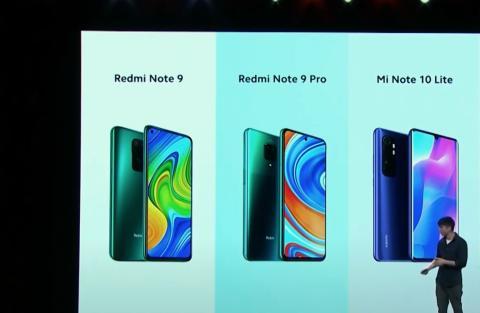 Xiaomi Redmi Note 9 Pro y Mi Note 10 Lite