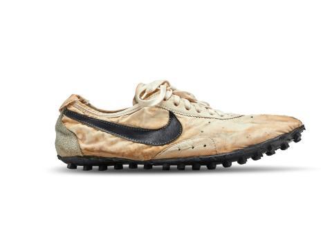 "2019: Nike Waffle Racing Flat ""Moon Shoe"" ($437,500)"