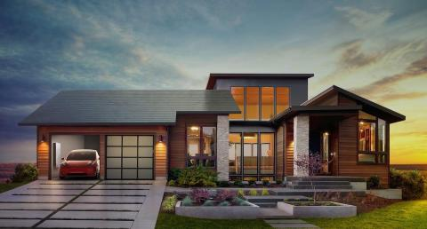 ... And after it acquired SolarCity in 2016, integrated solar residential rooftops.