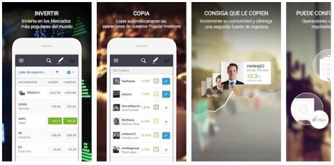Aplicación de eToro.