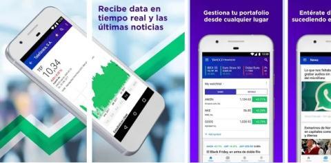 Aplicación Yahoo! Finanzas.