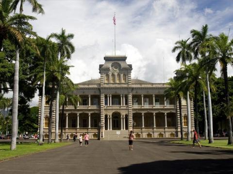 El Palacio Iolani está en Honolulu, Hawaii.