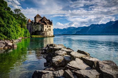Castillo de Chillon, Suiza.