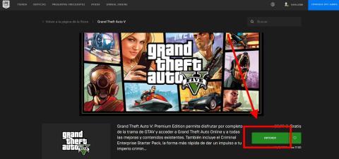 Cómo descargar GTA V gratis en Epic Games