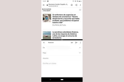 cómo dividir pantalla Android
