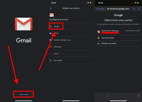 Cómo iniciar sesión enGmail en el móvil