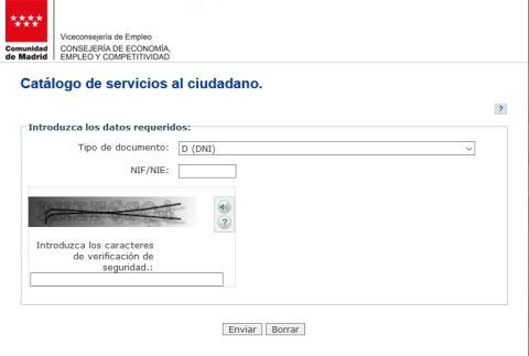 Demanda de empleo Madrid