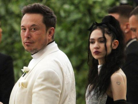Elon Musk and Grimes in May 2018.