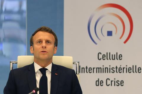 Emmanuel Macron, mandatario francés durante la crisis del coronavirus.