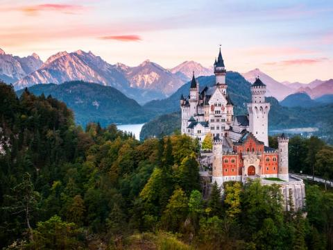Castillo de Neuschwanstein en Baviera, Alemania.