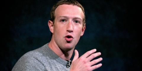 Facebook CEO Mark Zuckerberg speaks at the Paley Center on Friday, Oct. 25, 2019 in New York.