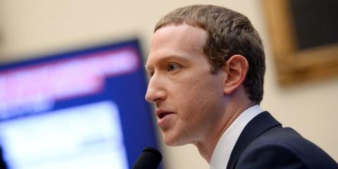 El presidente y CEO de Facebook, Mark Zuckerberg, en la Comisión de Financiación Doméstica en Washington, el 23 de octubre de 2019.