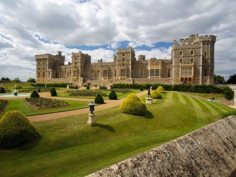 Castillo de Windsor en Windsor, Inglaterra.