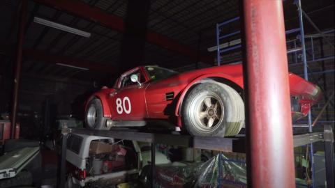 Vintage Corvette, coche de carreras.