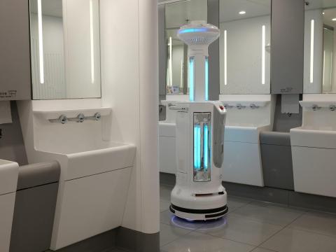 An Intelligent Sterilization Robot at Hong Kong International Airport.