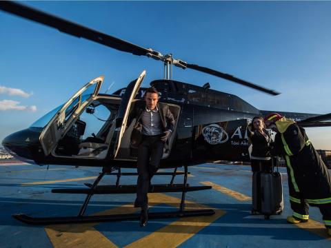 Un helicóptero de la división de movilidad aérea urbana de Airbus, Voom.