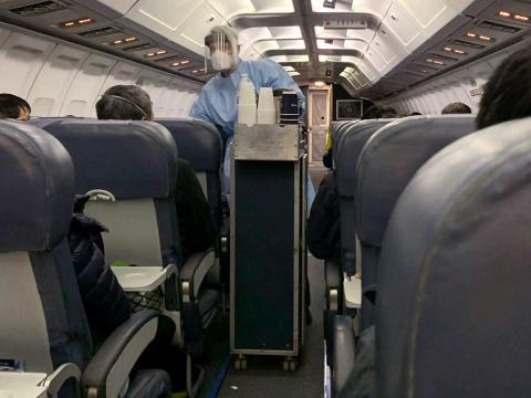 In-flight food and drinks have widely been cut to slow the spread of the coronavirus.