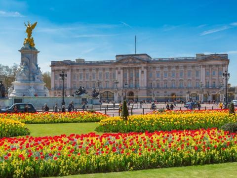 El Palacio de Buckingham es la residencia oficial de la reina Isabel II.