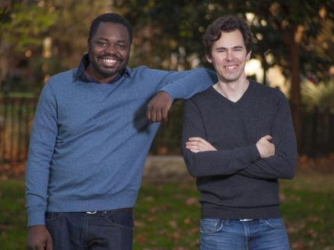 Los cofundadores de Gigster, Debo Olaosebikan, izquierda, y Roger Dickey, derecha.
