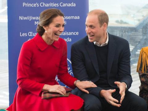 Kate Middleton y el Príncipe William en Canadá en 2016.