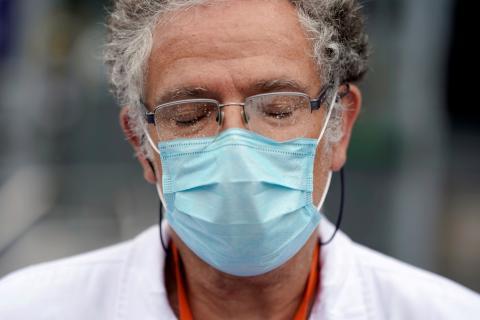 Miembro del personal sanitario del Hospital La Paz, Madrid, España.