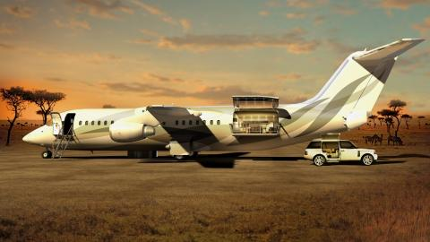 El nuevo diseño de jet privado de DesignQ.