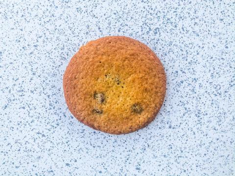 A cookie with overmixed batter.