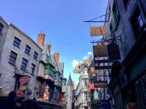Parque temático de Harry Potter en Orlando..