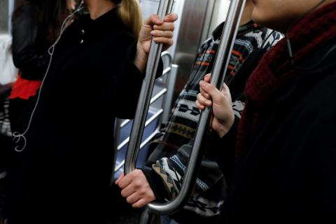 Pasamanos del metro.