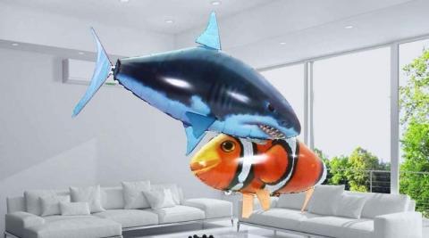 Pez volador con control remoto