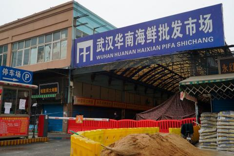 A photo of the Wuhan Seafood Wholesale market, January 21, 2020.