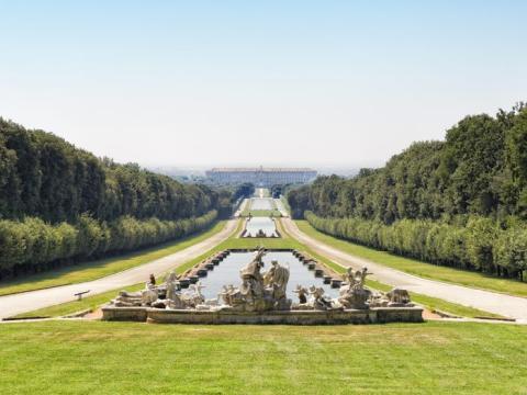 El Palacio Real de Caserta se encuentra en el sur de Italia.