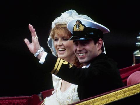 El príncipe Andrew y Sarah Ferguson en 1986.